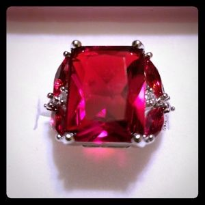Jewelry - Jewelry Women's Ring 5 CTW Square Cut Garnet-like